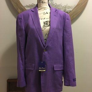 Alan Flusser Purple Blazer Nwt M
